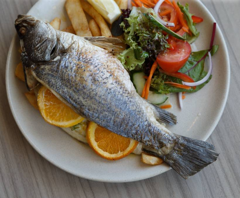SEAFOOD FOCUS: Try the baked whole baby barramundi.