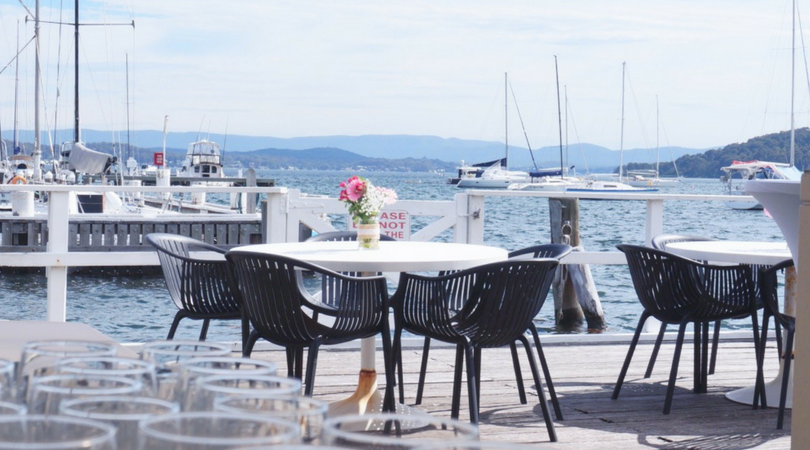 Outdoor wedding held at Lake Macquarie yacht club