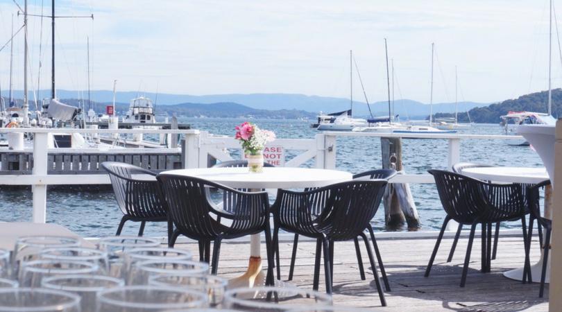 Outdoor wedding held at Lake Macquarie yacht club